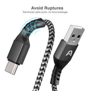 Cable Type-C to USB 2.0 Nylon Braided Dura Form