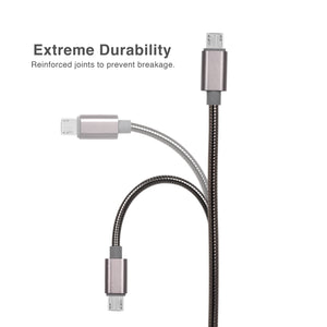 Cable Micro USB to USB 2.0 Metal Braided Dura Spring