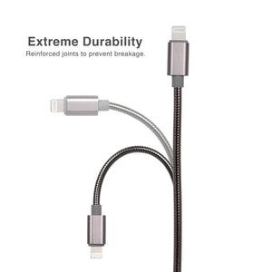 Cable Lightning to USB 2.0 Metal Braided Dura Spring