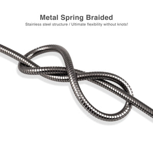 Cable Type-C to USB 2.0 Metal Braided Dura Spring