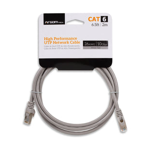 Cable Network UTP Cat6 6.5ft/2m Metal Tips