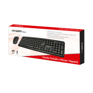 Classic Combo Spanish Keyboard & Mouse USB