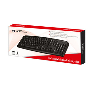 Multimedia Spanish Keyboard USB