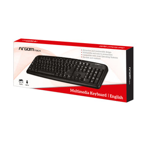 Multimedia English Keyboard USB