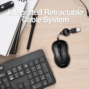 Optical Mouse Retractable USB