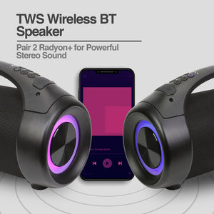 Radyon+ Beats Premium Wireless BT Speaker with LED Lights