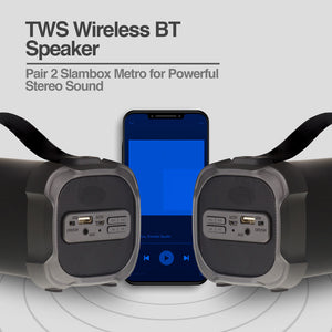 SlamBox Metro Beats TWS Wireless BT Speaker