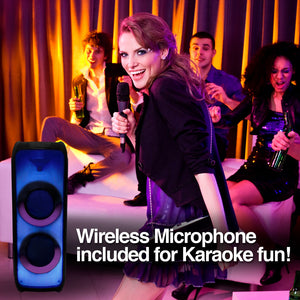 Rave 100 TWS Wireless BT Party Speaker with Flame LED Lights