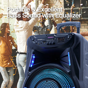 SoundBash 90 BT Trolley Speaker with LED Lights and Stand
