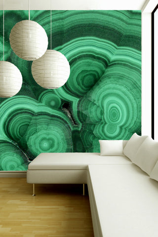 Mineral Wallpaper - Malachite Verde