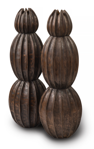 Tiered Wood Vessels