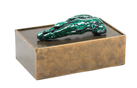 Bronze Box With Malachite