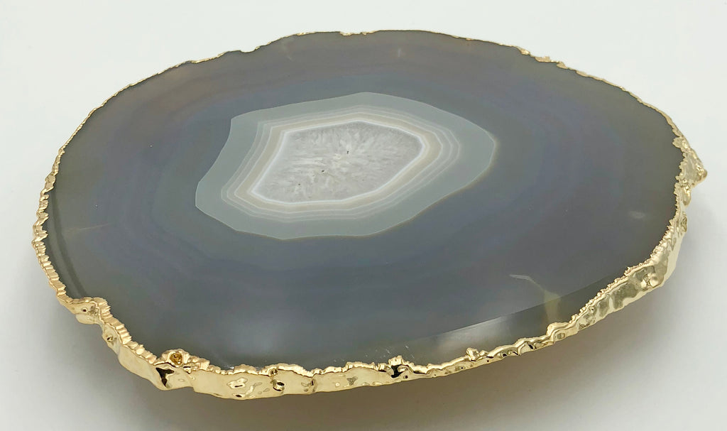 Gold rimmed Agate plates