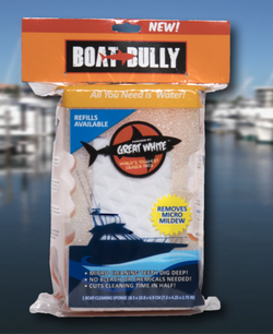 Boat Cleaning Sponge - Boat Bully non-scratch scrubber sponge with a Great White Eraser Pad