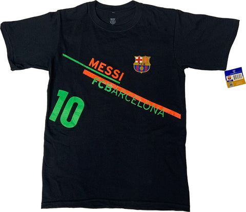 FC Barcelona  Messi 10 Officially Licensed Football Soccer T-Shirt  For Men- Black