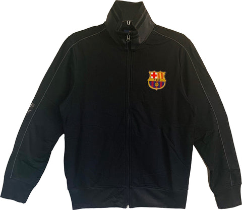 FC Barcelona Officially Licensed Zip Up Jacket for Men -Black
