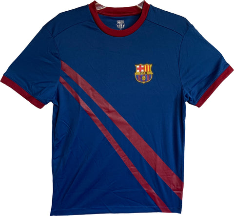 FC Barcelona Officially Licensed Football Soccer Men's T-Shirt - Blue