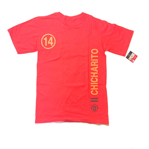 Officially Licensed Manchester United  Chicharito #14 Men's T-Shirt- Red