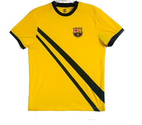 FC Barcelona Officially Licensed Football Soccer Men's T-Shirt - Yellow