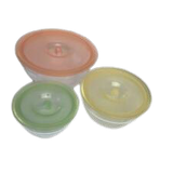 Mixing Bowls Set With Lids- 6 Piece Smart Essential Mixing Bowl Set (3) Bowls and (3) Lids
