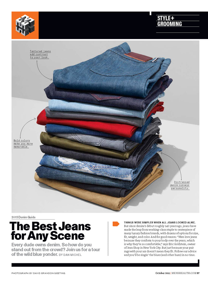 Cult Denim Featured in Men's Health October Issue