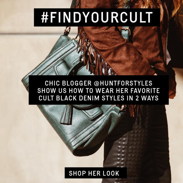 HUNT FOR STYLES ROCKS CULT BLACK DENIM, GET HER LOOK!