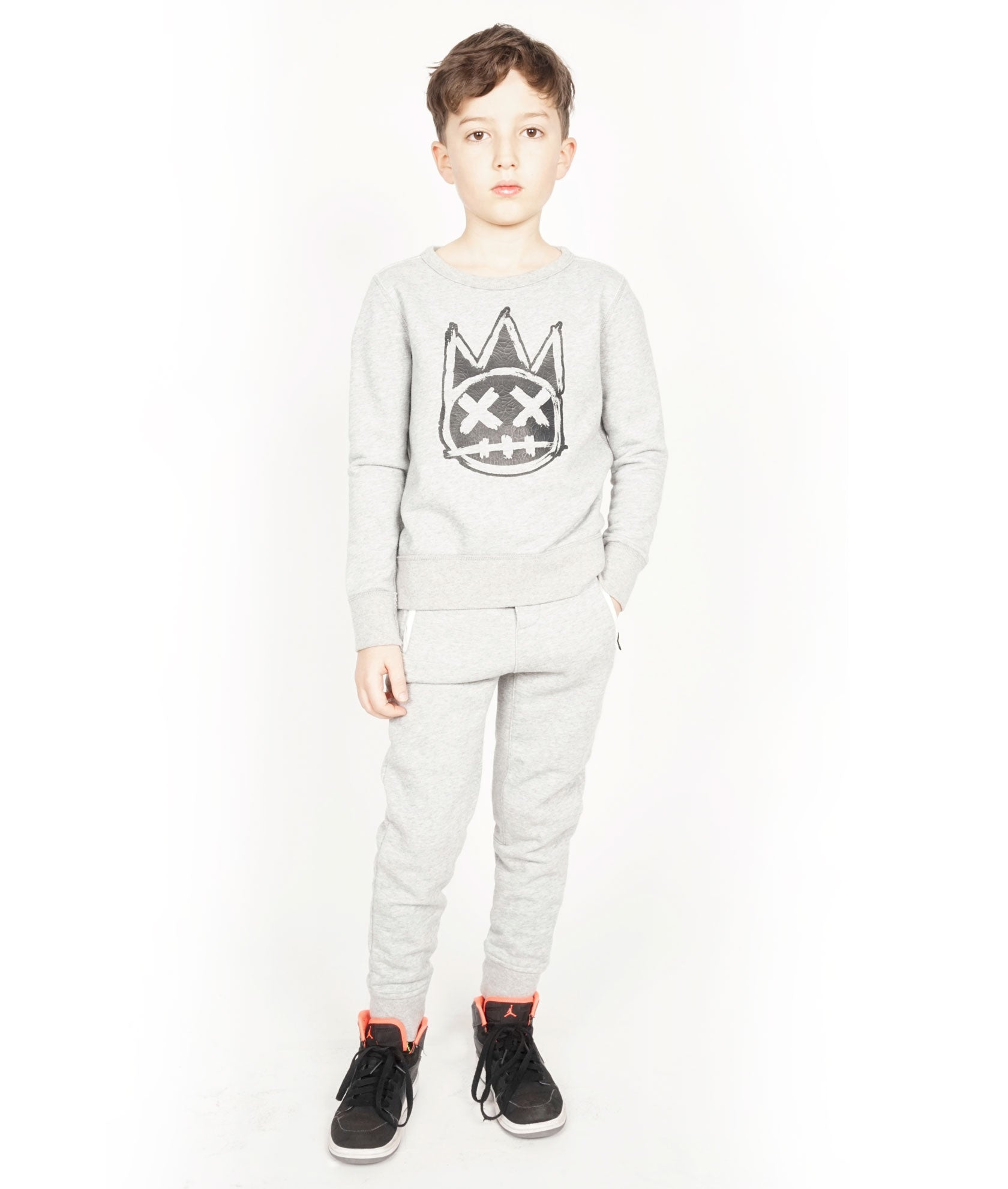 Kid's Fleece Sweat Pants in Heather Grey${product_sku}