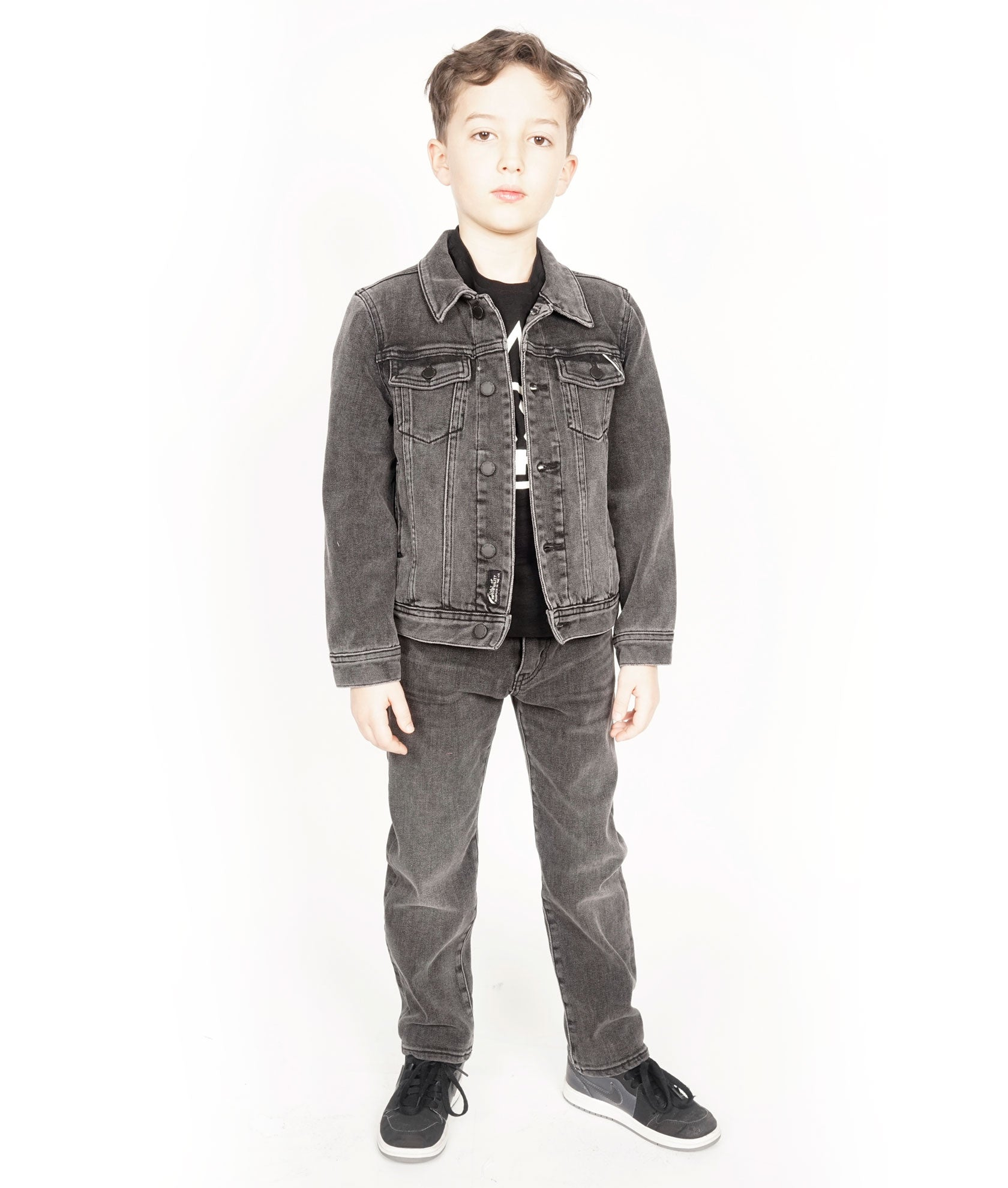 Cult of IndividualityKid's Denim Jacket Stretch in Vintage Black6/7