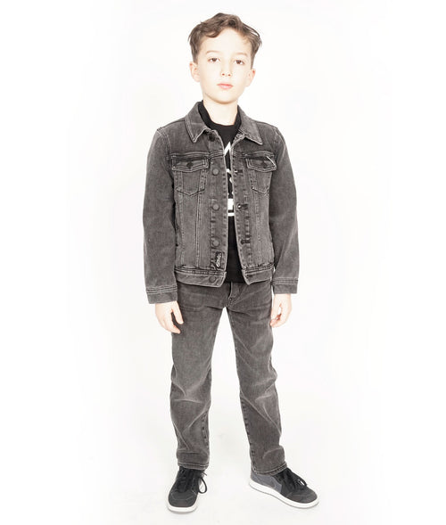 Cult of IndividualityKid's Denim Jacket Stretch in Vintage Black5-Apr