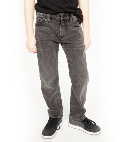 Kid's Rogue Slim Straight Stretch Denim Jeans in Smog