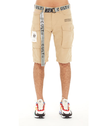 ROCKER CARGO SHORTS BELTED IN TAUPE