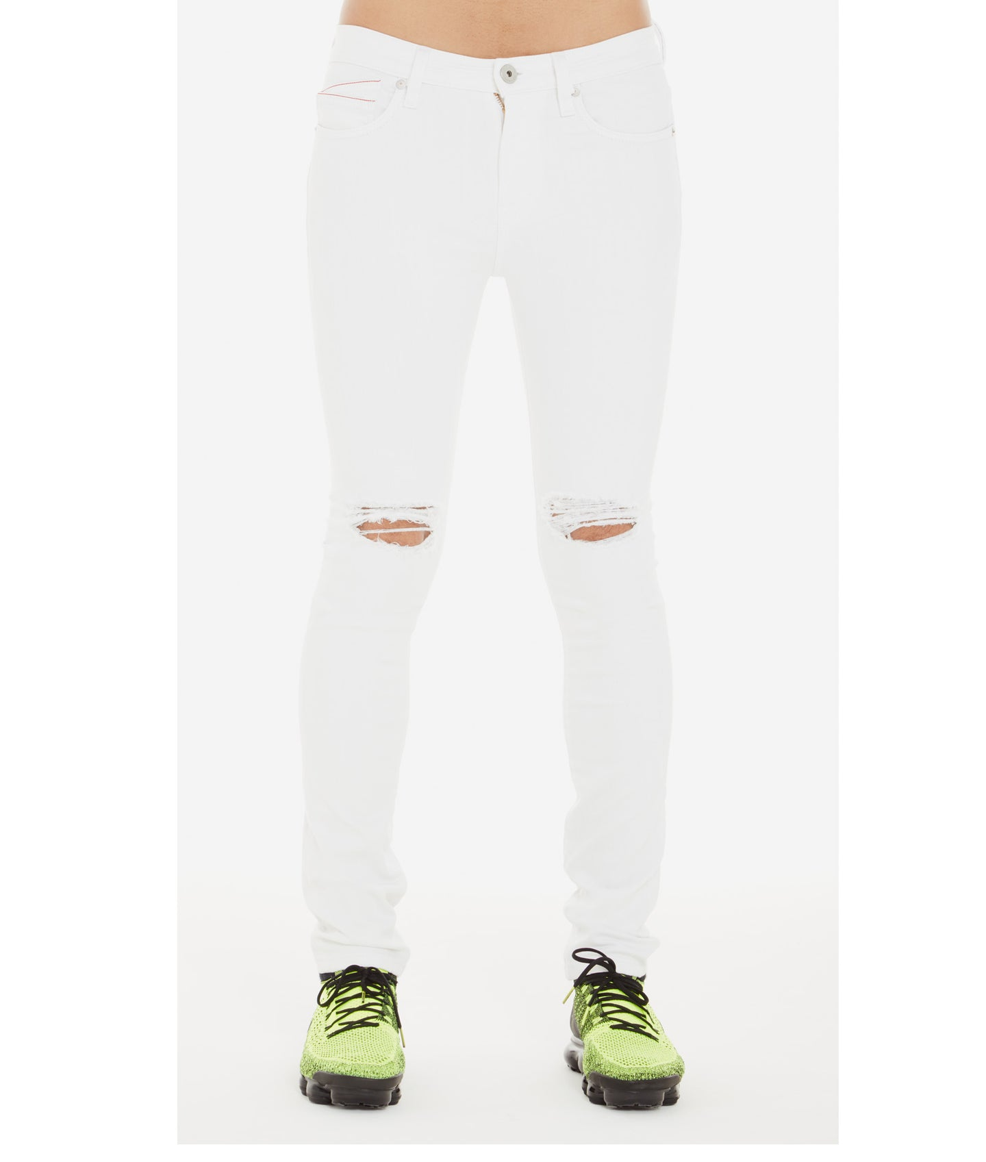 PUNK SUPER SKINNY STRETCH IN WHITE