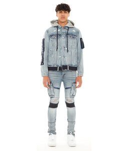 TYPE II DENIM HOODED JACKET IN ACID
