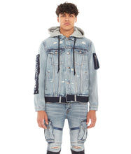 Load image into Gallery viewer, TYPE II DENIM HOODED JACKET IN ACID