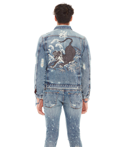 TYPE II REVERSIBLE DENIM JACKET IN TIGER