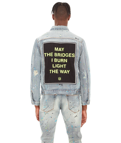 TYPE II DENIM JACKET IN NEON