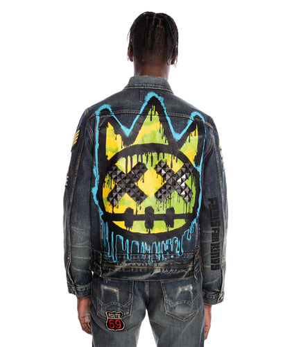 TYPE III DENIM JACKET STRETCH IN SULFUR