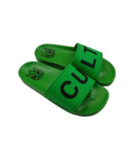 Load image into Gallery viewer, CULT SANDALS IN GREEN /W WHITE SOCKS *PREORDER*