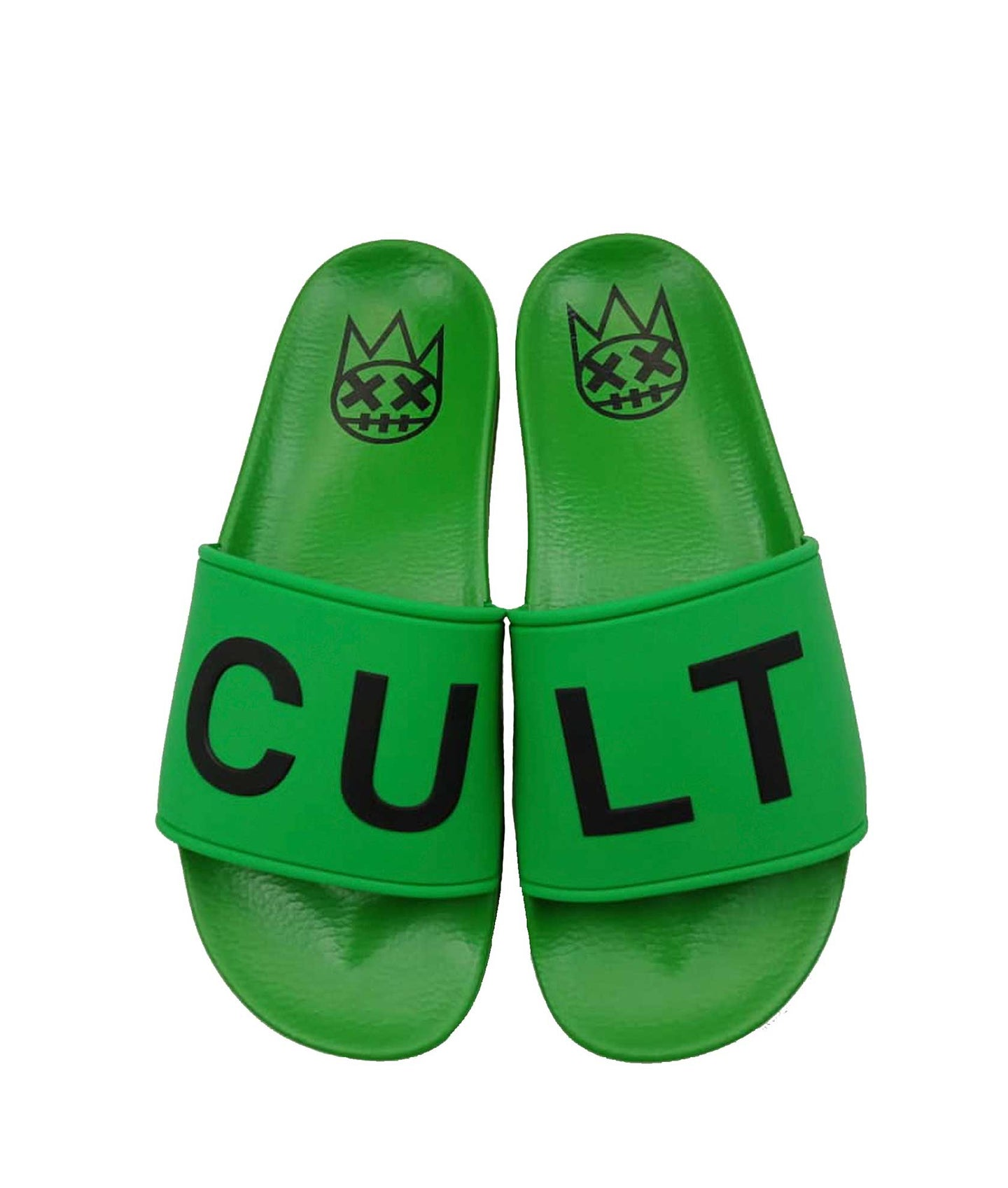 CULT SANDALS IN GREEN /W WHITE SOCKS *PREORDER*