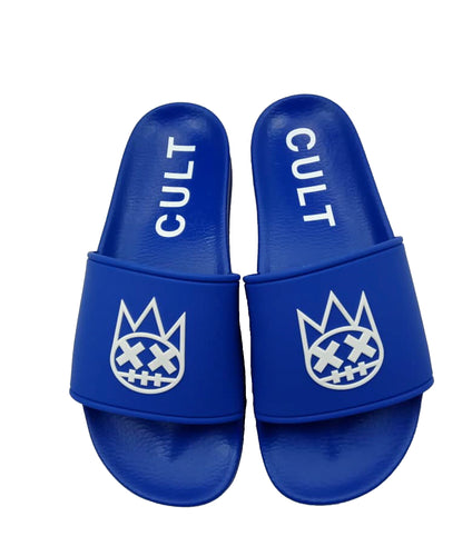 CULT SANDALS IN ROYAL BLUE /W BLACK SOCKS *PREORDER*