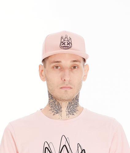 MESH BACK TRUCKER CURVED VISOR W/IRRIESCENT IN SALMON