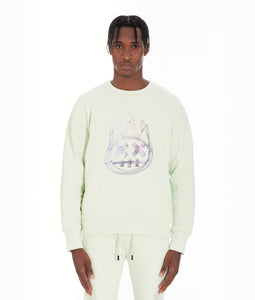 CREW NECK FLEECE IN MINT