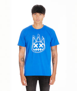 SHIMUCHAN LOGO SHORT SLEEVE CREW NECK T IN SURF BLUE