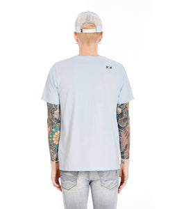 SHIMUCHAN LOGO SHORT SLEEVE CREW NECK T IN SKY