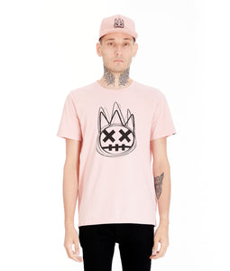 SHIMUCHAN LOGO SHORT SLEEVE CREW NECK T IN SALMON