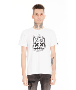 SHIMUCHAN LOGO SHORT SLEEVE CREW NECK T IN WHITE