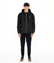 Load image into Gallery viewer, ZIP HOODY IN BLACK