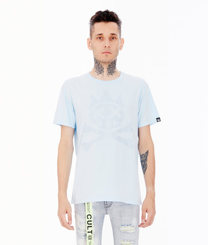 CRYSTAL SHIMUCHAN SHORT SLEEVE CREW NECK TEE IN SKY