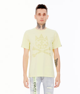 CRYSTAL SHIMUCHAN SHORT SLEEVE CREW NECK TEE IN LEMONADE