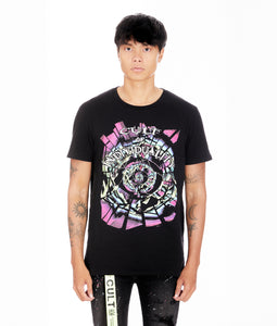SPLINTER OF THE MIND'S EYE  SHORT SLEEVE CREW NECK TEE IN BLACK